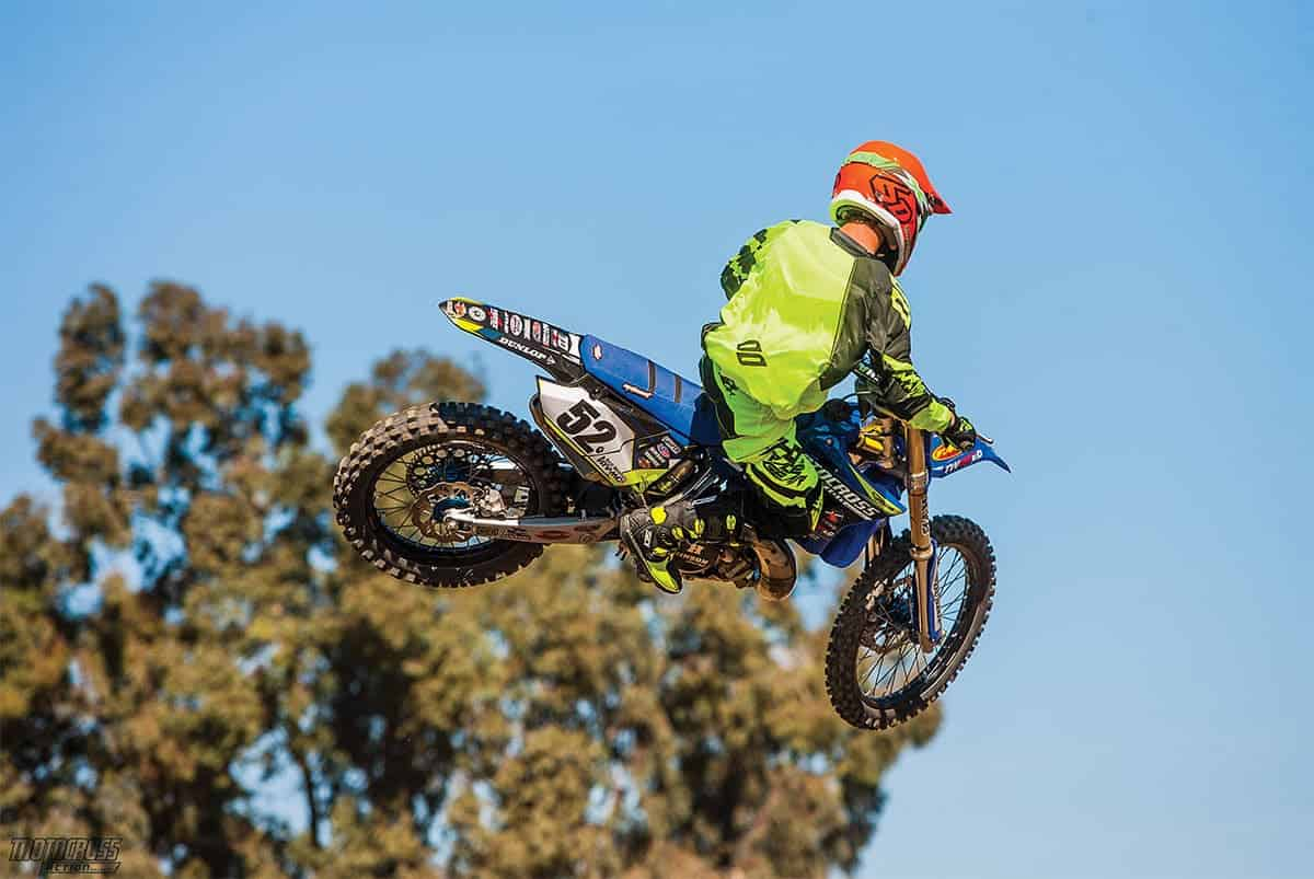 Contrary to popular opinion, the YZ250 two-stroke that Twisted Development built for MXA had 10 more foot-pounds of torque than the YZ250F four-stroke. The torque accenuated the power on the exit of corners, and we didn't need to use the clutch as much as on the stocker.