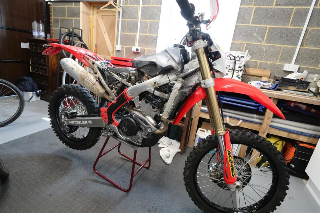 honda crf on stand