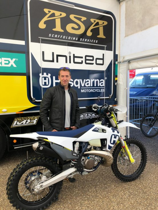 Craig Keyworth Husqvarna Weston Beach Race 2019